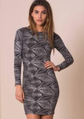 Missy Empire Missyempire Gianna Silver Geometric Print Bodycon Dress 0e33188d8