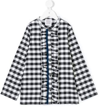 Douuod Kids ruffled gingham top