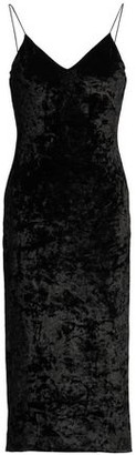 Alice + Olivia Crushed-Velvet Dress