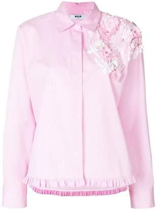 MSGM floral appliqué shirt