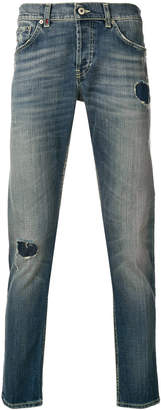 Dondup distressed straight leg jeans