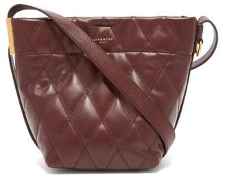 Givenchy Gv Mini Quilted Leather Bucket Bag - Womens - Burgundy