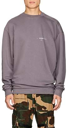 Off-White Men's Logo Twisted Cotton Terry Sweatshirt