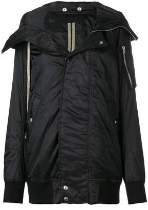 Rick Owens technical hooded bomber coat