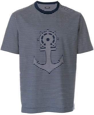 Z Zegna anchor print stripe T-shirt
