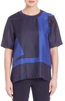 DKNY Silk Drop Shoulder Tee