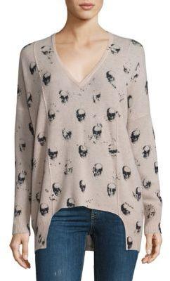 360 Cashmere Hollis Cashmere Skull-Print Sweater $288 thestylecure.com