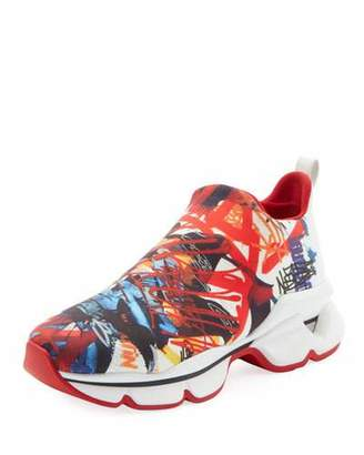 cfd2c7488f8 Christian Louboutin Space Run Donna Red Sole Sneakers