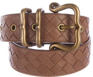 Bottega Veneta Bottega Veneta Intrecciato Leather Belt