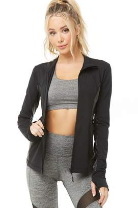 Forever 21 Active Faux Leather-Trim Jacket