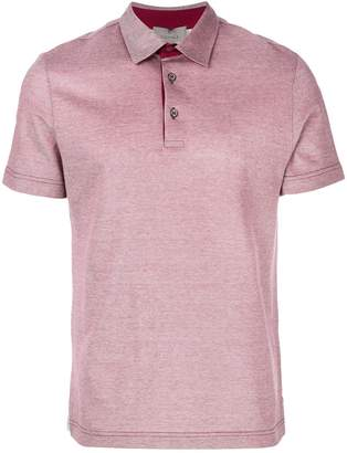 Canali slim fit polo shirt