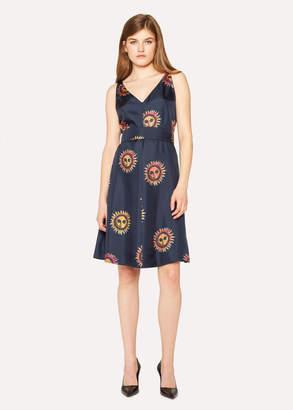 Paul Smith Women's Navy 'Sun' Print Silk Dress