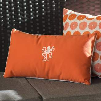 Beachcrest Home Dalton Octopus Outdoor Lumbar Pillow