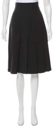 Akris Punto Wool Knee-Length Skirt