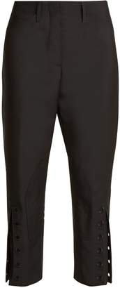 Fendi Tapered-leg cropped mohair-blend trousers