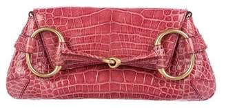 Gucci Alligator Horsebit Clutch