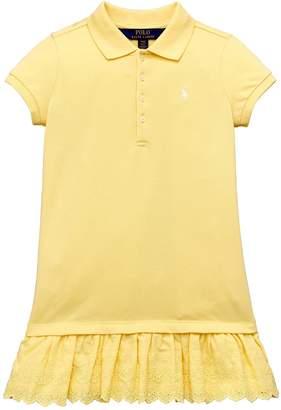 Ralph Lauren Lace Trim Polo Dress