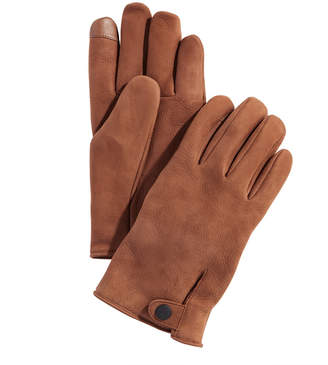 UGG Men Leather Tech Gloves