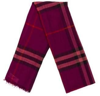 Burberry Virgin Wool & Silk Check Scarf