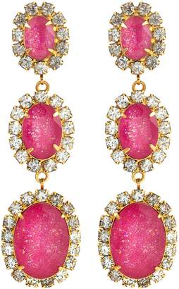 Elizabeth Cole 'Lawrence' glass crystal drop earrings