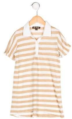 Loro Piana Girls' Striped Collared Top