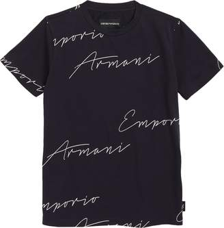 Armani Junior Script Logo T-Shirt