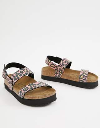 e64ab27fad3e Birkenstock Papillio by leopard slingback flat sandals