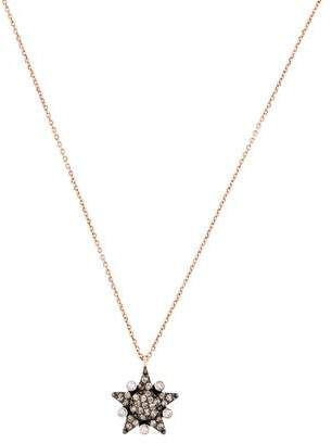 Kismet by Milka 14K Eclectic White And Champagne Diamond Large Star Pendant Necklace