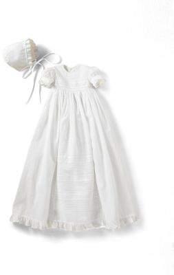 Kissy Kissy Infant's Two-Piece Christening Gown& Bonnet Set