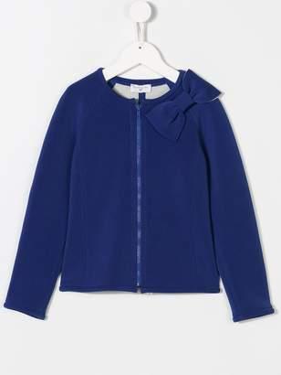 MonnaLisa bow zipped sweatshirt