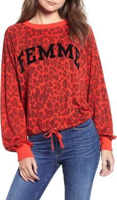 Pam & Gela Leopard Crop Sweatshirt