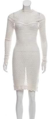 Isabel Marant Open Knit Long Sleeve Dress White Open Knit Long Sleeve Dress