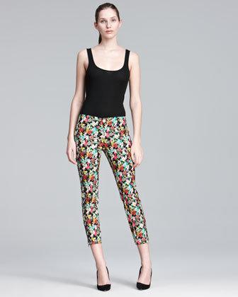 Nanette Lepore Lollipop Floral-Print Pants