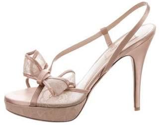 Valentino Satin High-Heel Sandals