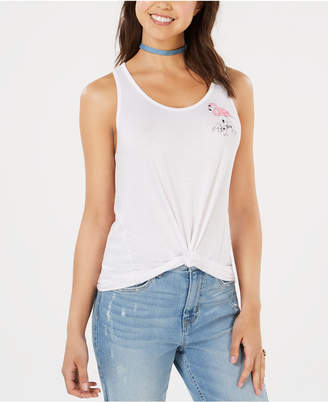 Pretty Rebellious Juniors' Tie-Front Tank Top