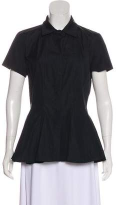 Giambattista Valli Short-Sleeve Flared Blouse w/ Tags