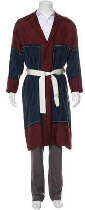 Oamc Silk Printed Robe