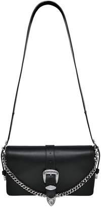 DSQUARED2 Leather Shoulder Bag W/ Buckle Detail