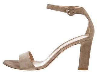 Gianvito Rossi Suede Round-Toe Sandals