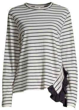 Clu Ruffle Stripe Cotton Tee