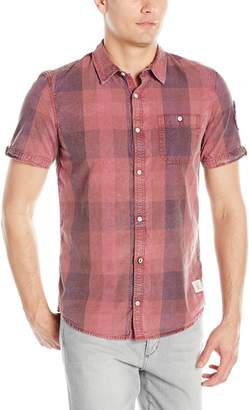 Buffalo David Bitton Men's Savilica Short Sleeve Fashion Plaid Button Down Shirt