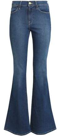 Faded High-Rise Bootcut Jeans