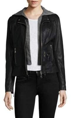 Doma Leather Hooded Jacket
