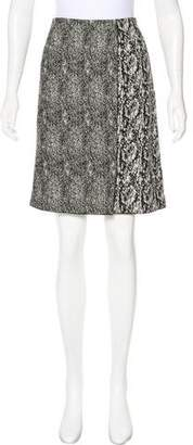 Celine Textured Knee-Length Skirt