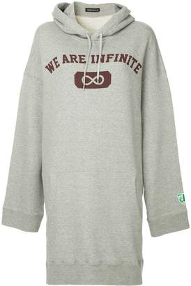 Undercover long hooded sweatshirt