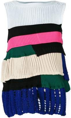Sacai layered ribbed jumper