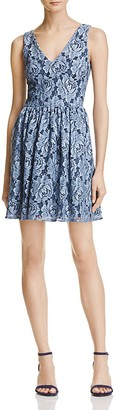 AQUA Lace V-Neck Fit-and-Flare Dress - 100% Exclusive $98 thestylecure.com