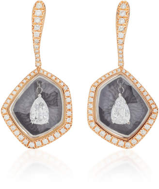 Saboo 18K Gold And Diamond Fusion Drop Earrings