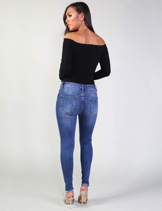 Rip Detail Skinny Jeans
