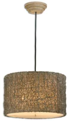 Uttermost Knotted Rattan Pendant Light